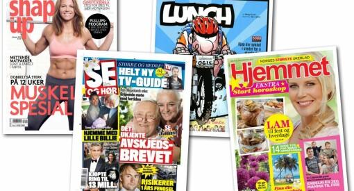 Magasiner og ukeblad står fortsatt sterkt og flere får mange nye lesere. Sjekk alle tallene her