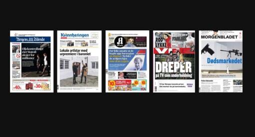 En av disse fem kan bli Årets avis. Se de nominerte i alle kategorier her!