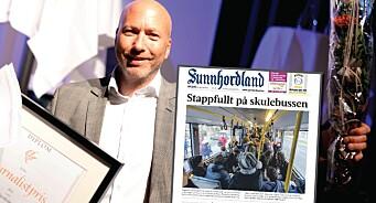 LLAs journalistpris til Sunnhordland for å ha røsket opp i overfylte skolebusser