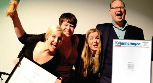 Nok en pris til avisa med bare notiser: Kvinnheringen vant «Årets avisside»