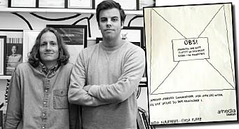 Mads og Christopher vant Gulltusjen for den beste annonse-ideen