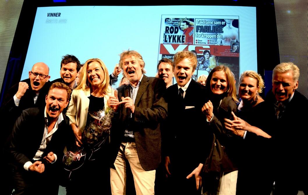 Slik feiret VG da mediehuset ble kåret til Årets avis våren 2015.