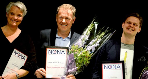 Gunnar Stavrum er «Årets netthode». Priser også til Adressa og Sunnmørsposten