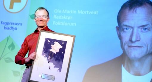 Politiforum-redaktøren er knallhard mot «sine egne»: Ole Martin Mortvedt er Fagpressens bladfyk 2015!