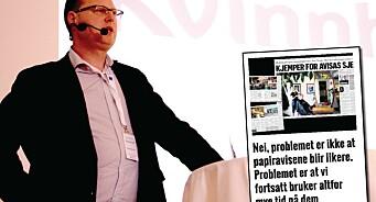 Tomas Bruvik svarer i «papir-debatten»: - Vi er ikkje digitale sinker