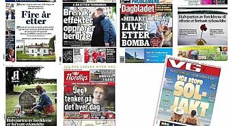 VG om skinnende sol på 22/7: - Vi skulle hatt en tydelig henvisning. Nå ser vi bare litt teite ut