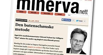 Snoen beskylder Håvard Nyhus for plagiat i Dagbladet. Og mener Dagbladet nektet å trykke påstandene