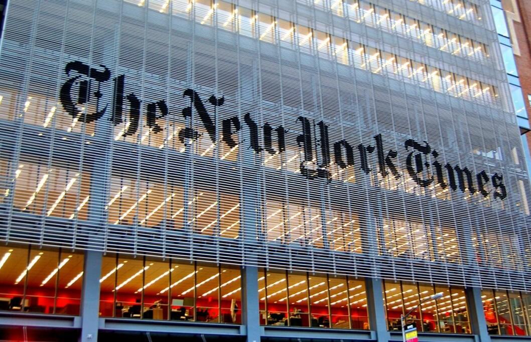 New York Times sitt hovedkvarter. .