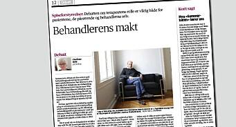 Aftenposten sendte upublisert leserinnlegg fra motdebattant til Finn Skårderud for vurdering