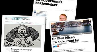 Strøksnes kalte byen korrupt. Arne O. Holm mener avisene logrer lydig. Nå skyter «skjødehunden» tilbake