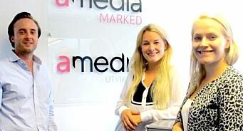 Tre nye hoder til Amedia Marked: Martin, Caroline og Lene er på plass