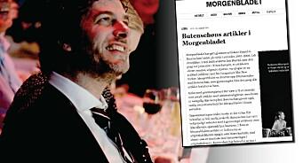 Butenschøn skrev 20 artikler for Morgenbladet. Nå har avisa funnet plagiat i 10 av dem