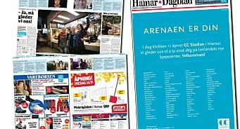PFU: Hamar Dagblad solgte forsida og fylte nesten hele avisa med kjøpesenter