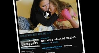 NRK felt i PFU for dokumentar om assistert selvmord. - Burde vært mer varsom i formidlingen