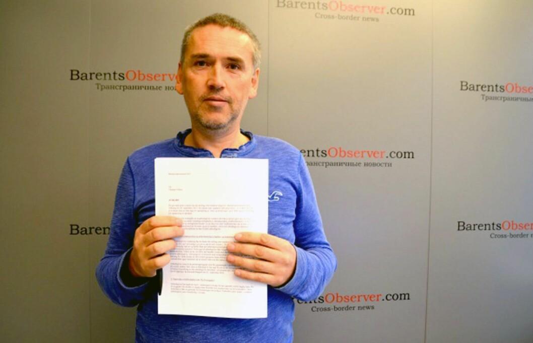 THOMAS NILSEN, redaktør for The Barents Observer