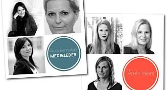Her er finalistene til årets kvinnelige medieleder og ledertalent