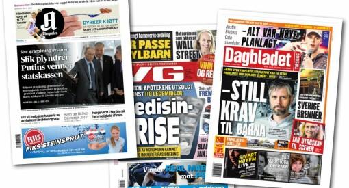Jeg leste gjennom hele Aftenposten, VG og Dagbladet med blåpenn. Svaret ble 177 kommafeil
