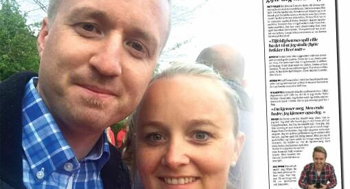 - Vil du gifte deg med meg?, skrev journalist Eivind til kjæresten. På baksida av lokalavisa