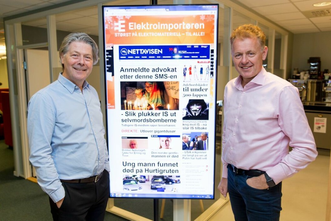 Nyhetsredaktør Erik Stephansen og ansvarlig redaktør Gunnar Stavrum i Nettavisen. Bildet er fra en annen sammenheng.