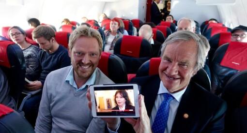 TV 2 satser høyt: Nå kan du se Nyhetskanalen i alle Norwegians fly med wifi