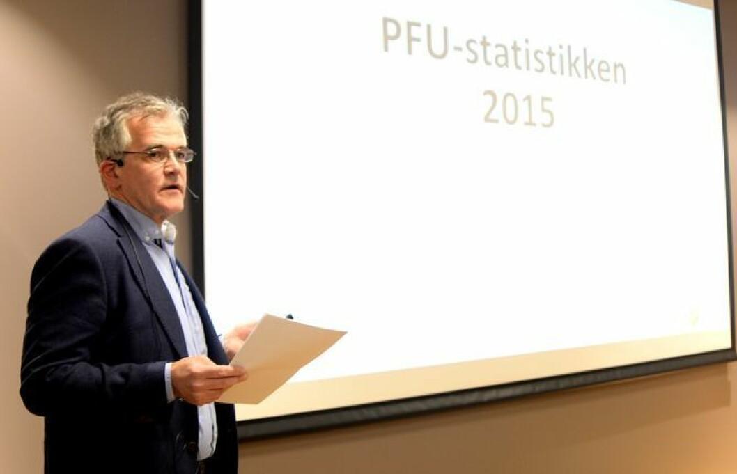 Fra fjorårets presentasjon av PFUs statistikk.