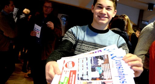 Tom Erik (17) er trolig Norges yngste redaktør. Og seks år etter starten selger han 1300 aviser i uka!