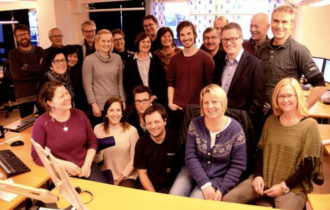 Den store og lokalt eide lokalavisa Hallingdølen - her fra Medier24s besøk på Ål vinteren 2016.