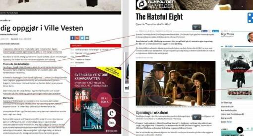 Avisa Lindesnes og Mandal Kino plagierte anmeldelser fra NRK P3