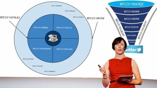 Ingeborg Volan under en av sine mange foredrag.