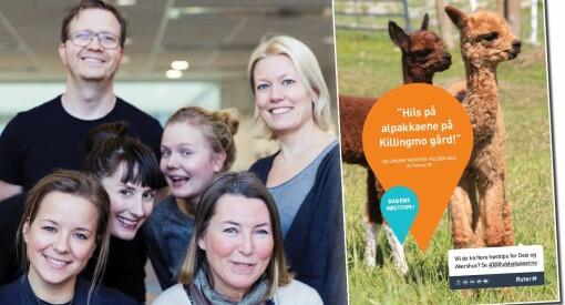 McCann og Ruter vant «Tett På» for 4000 holdeplasser og en alpakka på Killingmo gård