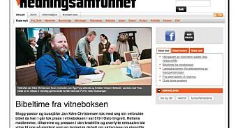 Hedning.no brøt det 7. bud: Kopierte en hel leder og bilde fra Dagen