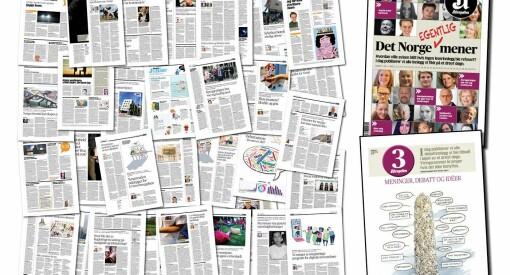 78 leserinnlegg på trykk: Aftenposten med 32 siders #debattspesial