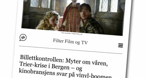Filter Film og TV får 50.000 fra Fritt Ord til å gjenopplive analysen av det norske kinomarkedet