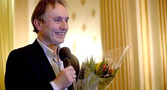 Helge Simonnes fikk årets hederspris fra Oslo redaktørforening - her er hans muntre takketale
