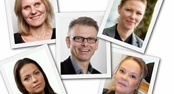 Her er det nye styret for Oslo Redaktørforening