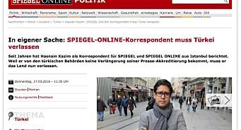 Nok en europeisk korrespondent nektes pressekort i Tyrkia: Der Spiegels mann forlater landet