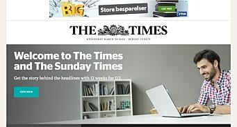 The Times sluttet med raske nyheter og oppdaterer nå fronten tre ganger daglig. Det har gitt 200 prosent økning i salget