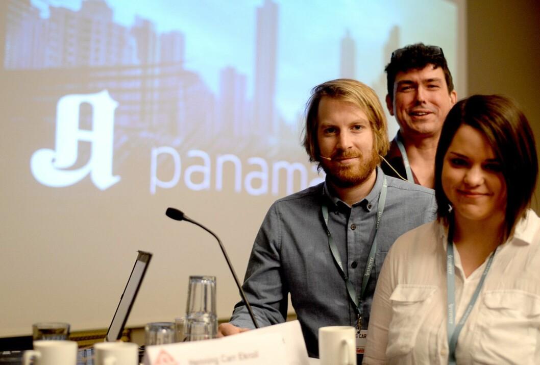 Arkivfoto: Henning Carr Ekroll, her fra et SKUP-foredrag om Panama Papers-avsløringen til Aftenposten.