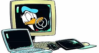 Tegneserie med kodeskole for kidsa. Donald Duck skal lære barn å lage spill