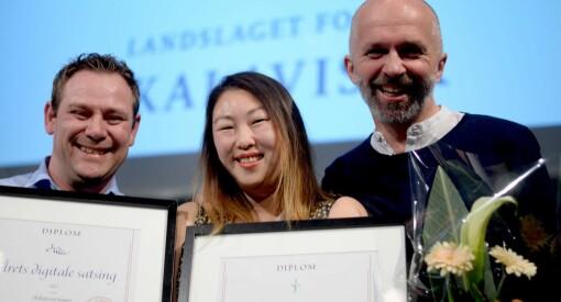 Dobbelt opp for Askøyværingen og Anne Jo Lexander! Tok både digitalprisen og Årets lokalavisfoto