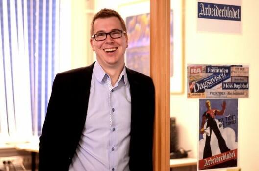 Eirik Hoff Lysholm, publisher i Mediehuset Dagsavisen.
