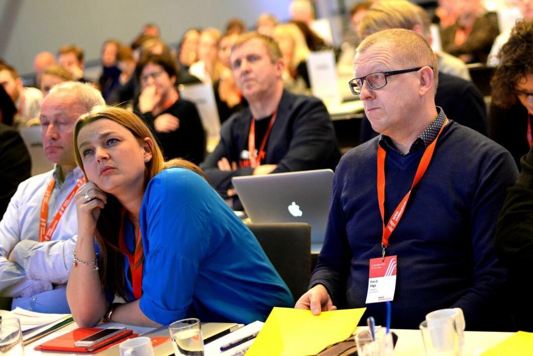 Illustrasjonsfoto: Fra landsmøtet til Norsk Journalistlag mars 2015.