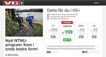 VG vurderer å tilby kjøp av enkeltartikler. Varsler også mer brukerbetaling