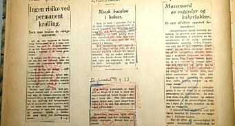 Med «den røde hånd» startet kampen mot tekstreklame i 1933. Se godbitene fra pressearkivene!