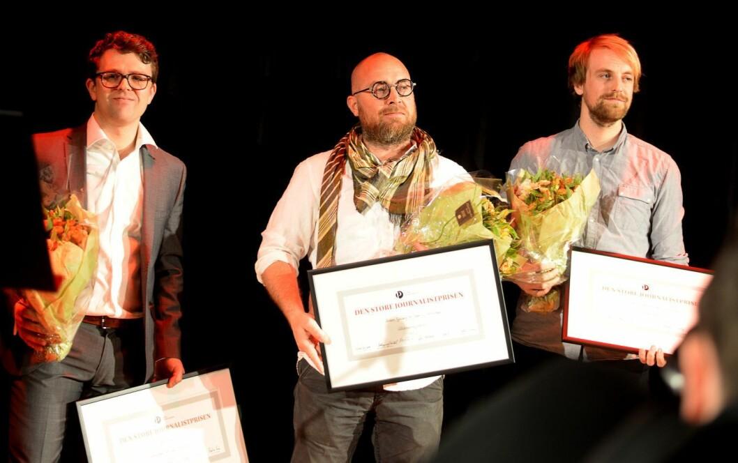 Den store journalistprisen 2016 ble delt mellom Vegard Venli for åpenhetskampen, og Dagbladet for Våtdraktmysteriet.