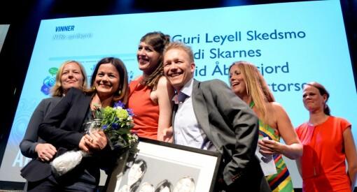 NTBs språkpris til Aftenposten Junior - for å skrive enkelt, klart og presist