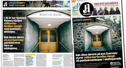 Aftenposten ikke felt for Panama Papers-omtale av Höegh-familien
