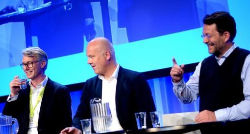 Muntert og skarpt TV-toppmøte: Et samlet stormløp mot TV 2-sjefens «sugerør i statskassa»
