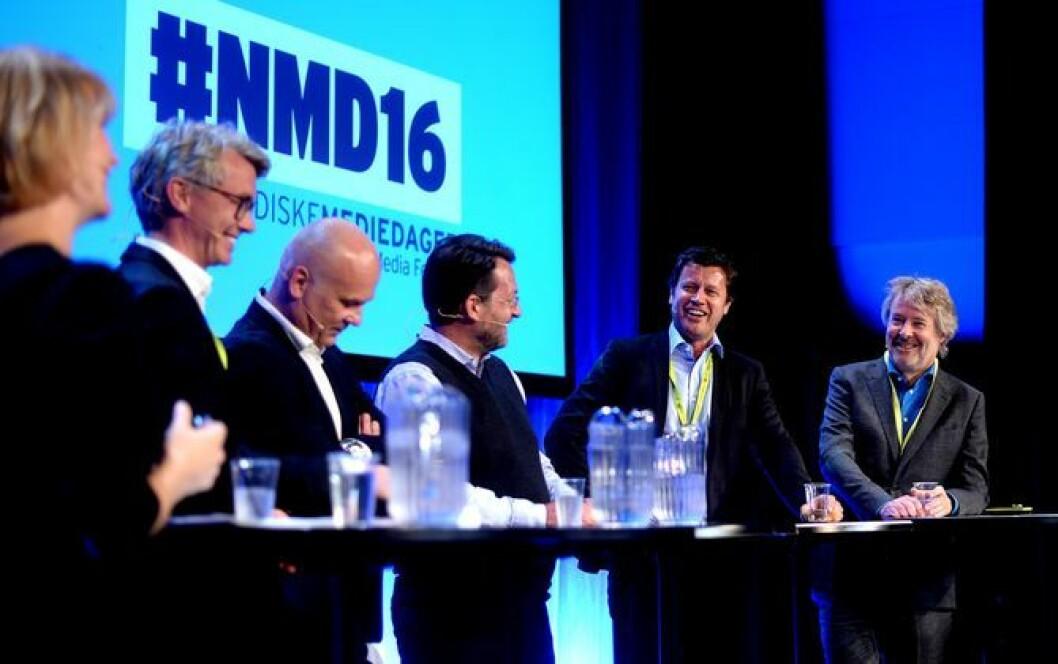 TV-sjefer under «toppmøtet» på Nordiske Mediedager for noen år siden.