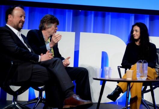 Frithjof Jacobsen & Anders Giæver i samtale med Aps nestleder Hadia Tajik om «mediebransjens undergang».